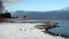 Südseite des Bodensees sonnig - Nordseite bewölkt. (Bild: Barbara Weber)