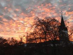Morgenstimmung über St. Mangen (Bild: Sandro Kronenberg)