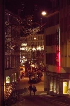 Aller Stern in St. Gallen ist angezündet (Bild: Daniel Widmer)