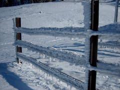 Eisige Zeiten auf dem oberen Kamor. (Bild: Toni Sieber)