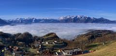 Die Appenzeller Berge von Fraxern. (Bild: Toni Sieber)