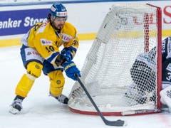Andres Ambühl gewann am Spengler Cup mit Davos gegen die Nürnberg Ice Tigers mit 3:2 (Bild: KEYSTONE/EPA KEYSTONE/MELANIE DUCHENE)