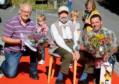 13. Oktober: Bei guter Gesundheit und frohem Gemüt feiert Josua Hanselmann in Oberschan im Kreise seiner Angehörigen seinen 100. Geburtstag. (Bild: Hansruedi Rohrer)