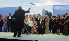 2. August: Die totgeglaubten Werdenberger Schloss-Festspiele feiern mit der Oper «La Traviata» eine grandiose Auferstehung. Die Vorstellungen sind restlos ausverkauft. (Bild: Heini Schwendener)
