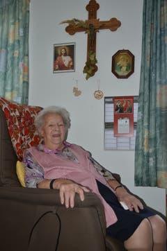 13. Januar: Maria Schmid ist die älteste Einwohnerin von Gams. Heute feiert sie ihren 100. Geburtstag. Bild: Alexandra Gächter