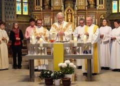 18. November: Mit einer feierlichen Messe gedenkt die katholische Pfarrei Gams der Einweihung der St.Michaelskirche. Diese fand auf den Tag genau vor 150 Jahren statt. (Bild: Hanspeter Thurnherr)
