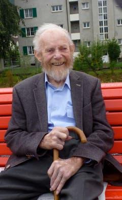 4. September: Der an der Kreuzgasse 1 in Buchs wohnhafte frühere Landwirt Heinrich Hofmänner, bekannt als «Chrüzgass-Heiri», feiert heute seinen 100. Geburtstag. Bild: Hansruedi Rohrer