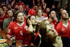 WM-Spiel Schweiz gegen Serbien im Brauhaus Sternen in Frauenfeld. (Bild: Donato Caspari)