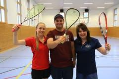 5. bis 6. Mai: An den Schweizer Meisterschaften in Bonaduz sorgten die Speed-Badminton-Spieler Anja Grässli, Yvonne Niedhart und Emanuel Meier (Rheintal Speeders) für vier Goldmedaillen. Bild: Robert Kucera
