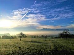 Mystische Morgenstimmung in der Naturlandschaft von Hildisrieden. (Bild: Urs Gutfleisch (Hildisrieden, 28. Dezember 2018))