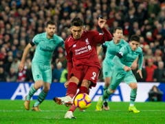 Der Brasilianer Roberto Firmino war mit drei Treffern der Matchwinner beim 5:1 von Leader Liverpool gegen Arsenal (Bild: KEYSTONE/EPA/PETER POWELL)