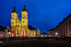 Der Klosterplatz am ersten Advent. (Bild: Daniel Widmer)