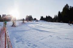 Blick auf die Piste auf der Ochsenweid. (Bild: Jakob Ineichen (Sörenberg, 29. Dezember 2018))