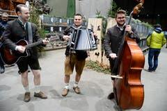 Das Trio «d'Fätzer» aus Schaan sorgte am Züchterabend für den zünftigen musikalischen Rahmen.