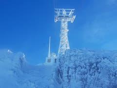 Der Säntis: Bitterkalt und zugefroren (Bild: Daniel Meuli)
