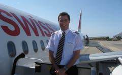 Der junge Sales Wick im Jahr 2011 - ein Jahr nach Abschluss seiner Pilotenausbildung. (Bild: PD)