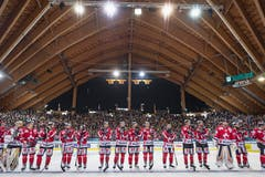 Die Enttäuschung beim Team Canada ist riesig, hatte man doch den vierten Titel in Folge vor Augen. Bild: Melanie Duchene / Keystone (Davos, 31.12.2018)