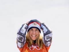 Sie sorgte für das Sport-Märchen des Jahres: Ester Ledecka gewann an den Olympischen Winterspielen in Pyeongchang Gold im Super-G der Skifahrer und im Parallel-Riesenslalom der Snowboarder (Bild: KEYSTONE/JEAN-CHRISTOPHE BOTT)