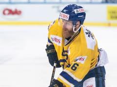 Linus Klasen brillierte am Spengler Cup. Nicht zu glauben, dass das, was er zu leisten vermag, in Lugano nicht für einen Platz in der Mannschaft ausreichen soll. Am Spengler Cup schaffte er es auf jeden Fall ins All-Star-Team (Bild: KEYSTONE/SPENGLER CUP/MELANIE DUCHENE)