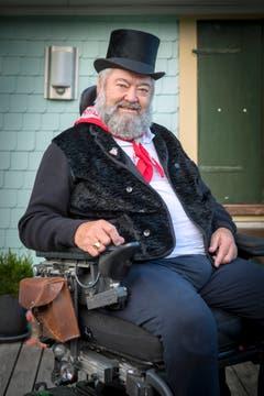 Drehorgelspieler Peter Hochreutener (Bild: Urs Bucher)