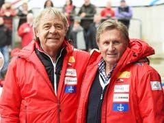 Zwei Olympiasieger: Ekkehard Fasser (li., 1988) und Erich Schärer (1980) (Bild: KEYSTONE/EPA DPA/TOBIAS HASE)