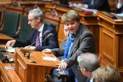 Viola Amherd erklärt Annahme der Wahl zum 118. Mitglied des Bundesrates. (Bild: Keystone)