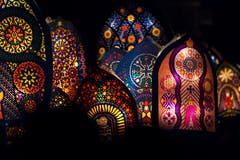 Sie locken Publikum aus dem In- und Ausland an: die farbenfrohen und aufwendig gefertigten Iffelen. Bild: Dominik Wunderli (Küssnacht, 5. Dezember 2018)