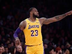 Die nächste Herausforderung: Seit diesem Sommer will LeBron James die tief gefallenen Los Angeles Lakers zu alter Grösse zurückführen (Bild: KEYSTONE/AP/MARK J. TERRILL)