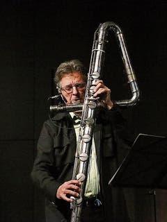 Matthias Ziegler entlockte seiner Riesenflöte verblüffende Klangbilder.
