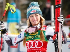 Mikaela Shiffrin doppelt im Super-G von St. Moritz nach (Bild: KEYSTONE/AP The Canadian Press/JEFF MCINTOSH)