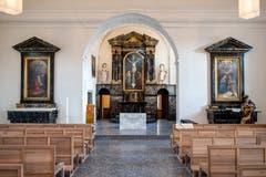 Blick in die renovierte Peterskapelle Luzern beim Kapellplatz. (Bild: Philipp Schmidli, 7. Dezember 2018)