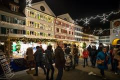 Noch bis am Sonntagabend ist der Markt geöffnet. (Bild: Philipp Schmidli, Willisau, 7. Dezember 2018)