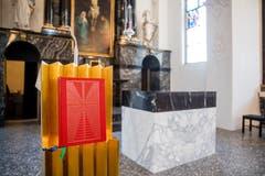 Neuer Ambo, neuer Altar. (Bild: Philipp Schmidli, 7. Dezember 2018)