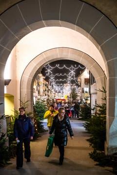 Das Städtchen Willisau steht ganz im Zeichen der Vorweihnacht. (Bild: Philipp Schmidli, Willisau, 7. Dezember 2018)