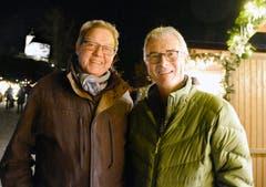 Hansjürg Schlegel und Hansueli Litscher als begeisterte nächtliche Gäste. (Bild: Hansruedi Rohrer)