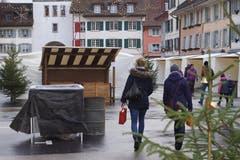 Die Marktstände am Christkindli Märt in Willisau bleiben am Sonntag geschlossen. (Bilder: Hannes Bucher (Willisau, 9. Dezember 2018))