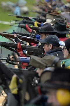 Rund 1000 Schützen nahmen am 151. Rütlischiessen teil. (Bild: Keystone)