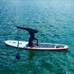 Auf dem Zugersee: #surf#sup#love@switzerland#lake#zug (Bild: Kokazhki / Israel)