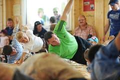 Das Training mit Kilian Wenger. (Bild: Corinne Glanzmann / Neue LZ)