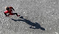 Eine Läuferin in Aktion. (Bild: Stefan Kaiser (Neue ZZ))