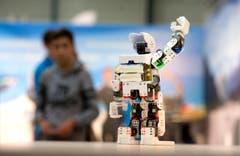 Der Dachverband der Elektroniker zeigt, wie ein Roboter funktioniert. (Bild: Nadia Schärli / Neue LZ)
