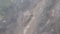 Dieser Quader kam im Steilhang zum Stillstand. (Bild: Florian Arnold / Neue UZ)