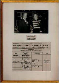 .. der Mann vom Mond, Neil Armstrong ... (Bild: Aus dem Archiv von Hanny Buholzer)