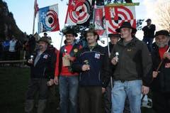 Die Bechergewinner der Sektion Engelberg / Anderhalten (von links): Hugo Halter , Josef Kammermann , Hans Vogler und Christian Hurschler (Bild: Urs Hanhart / Neue UZ)