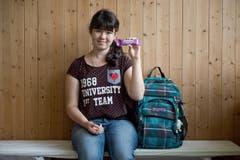 Thalia Kropf (13): «Ich finde es cool, dass wir einen neuen Lehrer haben.» (Bild: Pius Amrein (Neue LZ))