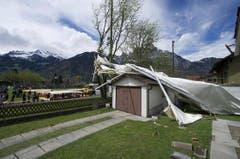 Das Festzelt: Wohl weniger vom Winde verweht... (Bild: Keystone)