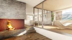 Wohnzimmer im Haus Fuchs. (Bild: Visualisierung PD)