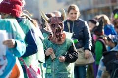"""Auch """"gfürchige"""" Masken waren dabei. (Bild: Maria Schmid (Neue ZZ))"""