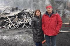 Der Besitzer Hans Herger mit seiner Frau. (Bild: Urs Hanhart/Neue UZ)