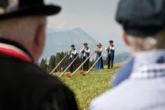 Auf dem Bild zu sehen ist das Quartett der ABV Luzern. (Bild: Pius Amrein (Neue LZ))